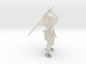 Robot Skeleton Samurai 03 in Transparent Acrylic