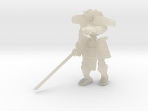 Robot Skeleton Samurai 04 in White Acrylic