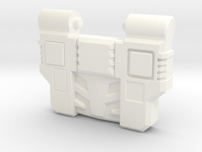 Reckless Driver's G1 Chest Plate in White Processed Versatile Plastic