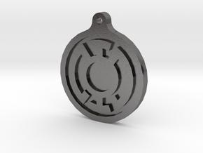 Blue Lantern Key Chain in Polished Nickel Steel
