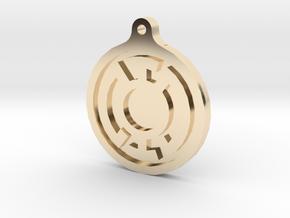 Blue Lantern Key Chain in 14k Gold Plated Brass