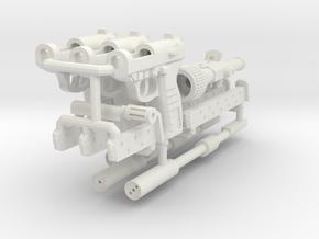 1:6 Modular Pistol Strong  Flexible in White Natural Versatile Plastic