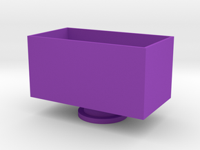 Chicken Face Storage Box in Purple Strong & Flexible Polished