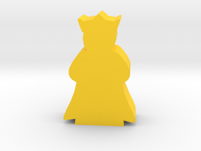 Game Piece, Queen with cape in Yellow Strong & Flexible Polished