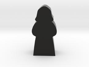 Priest Meeple In Hooded Robes in Black Natural Versatile Plastic