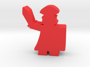 Game Piece, Roman Centurion in Red Processed Versatile Plastic