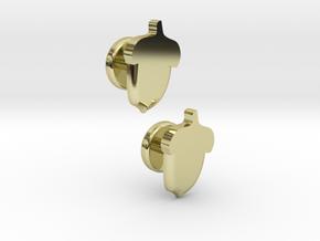 Acorn Cufflinks in 18k Gold