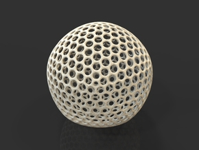 Icosahedron Sphere in Natural Sandstone