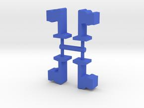 Game Piece, Flag 4-set in Blue Processed Versatile Plastic