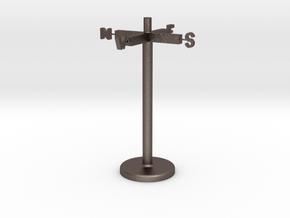 104102204 吳昇典 指南針 in Polished Bronzed Silver Steel