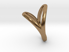 Union Heart Ring  in Natural Brass: 8 / 56.75