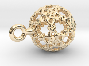 Sphere-132-small in 14K Yellow Gold