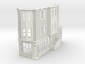 WEST PHILLY 3S ROW STORE CORNER R 160 Brick in White Natural Versatile Plastic