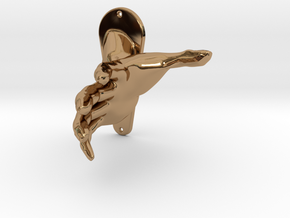 Child size hand in Polished Brass