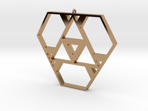Polygonal Pendant #1 in Polished Brass