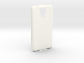 Customizable Samsung S5 case in White Processed Versatile Plastic