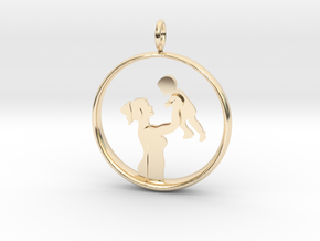 Mother & Son Pendant 1 -Motherhood Collection in 14K Yellow Gold
