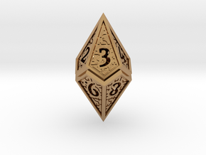 Hedron D10 (v2 open) Spindown - Hollow in Polished Brass