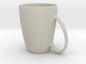Coffee mug #6 - Handle UpSideDown in Natural Sandstone