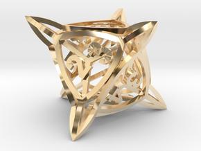 'Center Arc' D8 Tarmogoyf P/T Die in 14k Gold Plated Brass