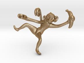 3D-Monkeys 202 in Matte Gold Steel