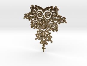 Mandelbrot Fractal Design in Polished Bronze