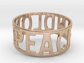Peaceandlove 65 Bracelet in 14k Rose Gold Plated Brass