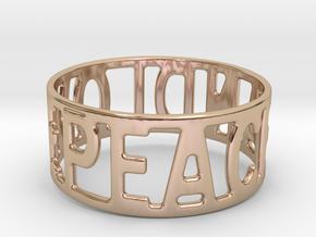 Peaceandlove 68 Bracelet in 14k Rose Gold Plated Brass