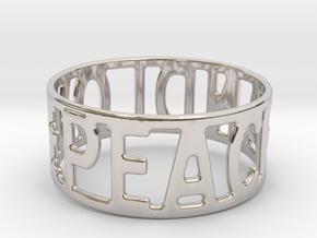 Peaceandlove 68 Bracelet in Rhodium Plated Brass