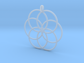 Flower of Life - Hollow Pendant V2 in Smooth Fine Detail Plastic