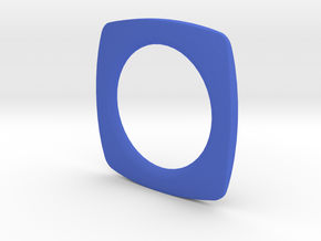 PILLOW SHAPED BANGLE 2.5 ID in Blue Processed Versatile Plastic