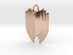 Shield in 14k Rose Gold Plated Brass