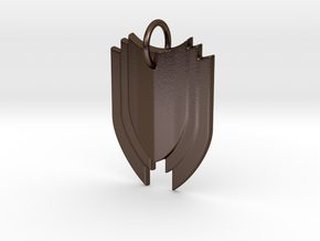 Shield in Polished Bronze Steel