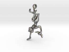 3D-Monkeys 226 in Fine Detail Polished Silver
