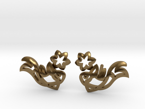 Earring 'Koi-fish' - Buddhist Symbol of Courage in Polished Bronze