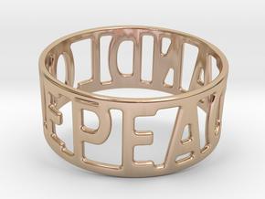 Peaceandlove 72 Bracelet in 14k Rose Gold Plated Brass