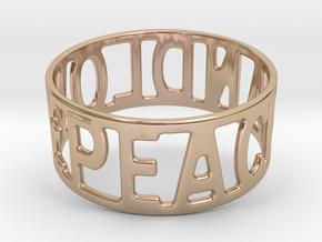 Peaceandlove 75 Bracelet in 14k Rose Gold Plated Brass