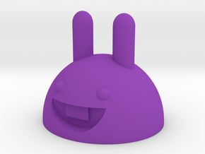 Rubber band bunny in Purple Strong & Flexible Polished