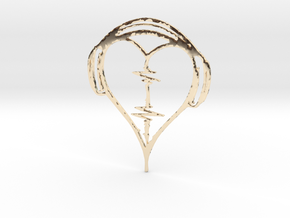 Musical Heart Pendant in 14K Yellow Gold