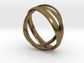 Rings in Polished Bronze