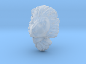 Lion pendant in Smooth Fine Detail Plastic