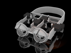 36mm Mechanical eye assembly. in White Strong & Flexible