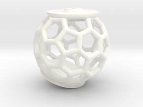 Model 70492 Brooche (Part 3) in White Processed Versatile Plastic