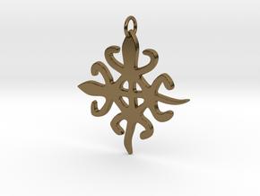 FUNTUNFUNEFU- DENKYEMFUNEFU (Siamese Crocodiles) in Polished Bronze
