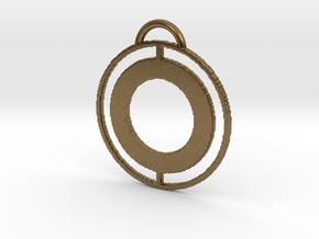 Circular Keychain in Natural Bronze