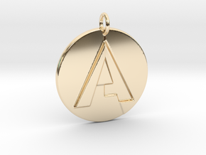 """A"" Letter Initial Pendant in 14K Yellow Gold"