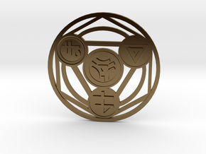 Alchemical Circle of Light - Small Version in Polished Bronze