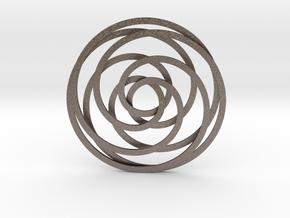 Trippleknot in Polished Bronzed Silver Steel