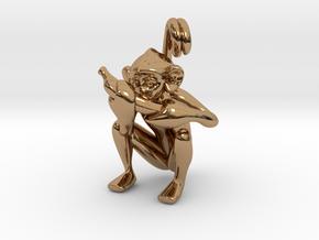 3D-Monkeys 344 in Polished Brass