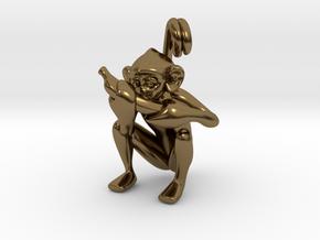 3D-Monkeys 344 in Polished Bronze